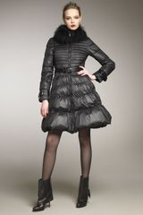 Antonio Croce Fur-collar A-line Puffer Coat - Lyst