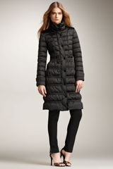 Burberry Long Puffer Coat - Lyst