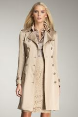 Burberry Satin Trenchcoat - Lyst