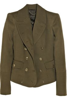 Burberry Prorsum Wool and Silkblend Military Jacket - Lyst