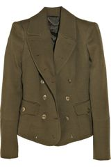 Burberry Prorsum Wool and Silk-blend Military Jacket - Lyst