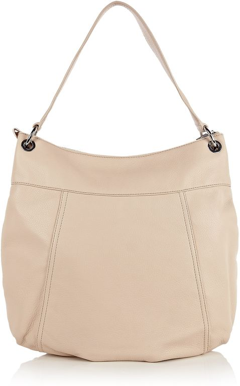 Dkny Eggshell Large Hobo Zip Shoulder Bag in Beige silver Lyst dkny side bag
