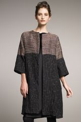 Shamask Metallic Tweed & Jacquard Combo Coat - Lyst