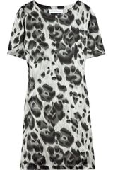 Stella McCartney Leopard-print Silk T-shirt Dress - Lyst