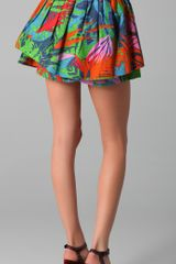 Suno Layered Hawaii Print Mini Skirt in Multicolor - Lyst