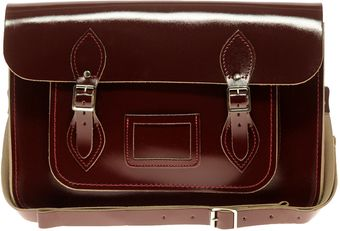 Cambridge Satchel Company Exclsuive To Asos Oxblood Patent Satchel - Lyst