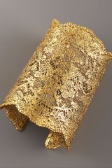 Aurelie Bidermann Lace Cuff, Gold in Gold - Lyst
