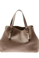 Bottega Veneta Intrecciato Woven Leather Tote Bag - Lyst