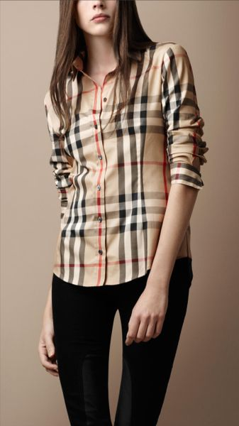 Cool Burberry London Womens Pleated Poplin Blouse  Uwomenshoe