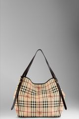 Burberry Medium Haymarket Check Tote Bag - Lyst