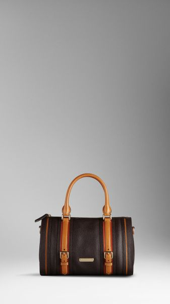 Burberry Medium Leather Bowling Bag in Brown (chocolate) - Lyst