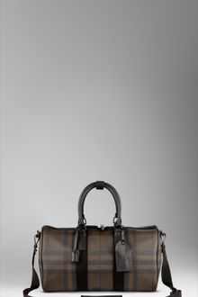 Burberry Smoked Check Duffle Bag - Lyst