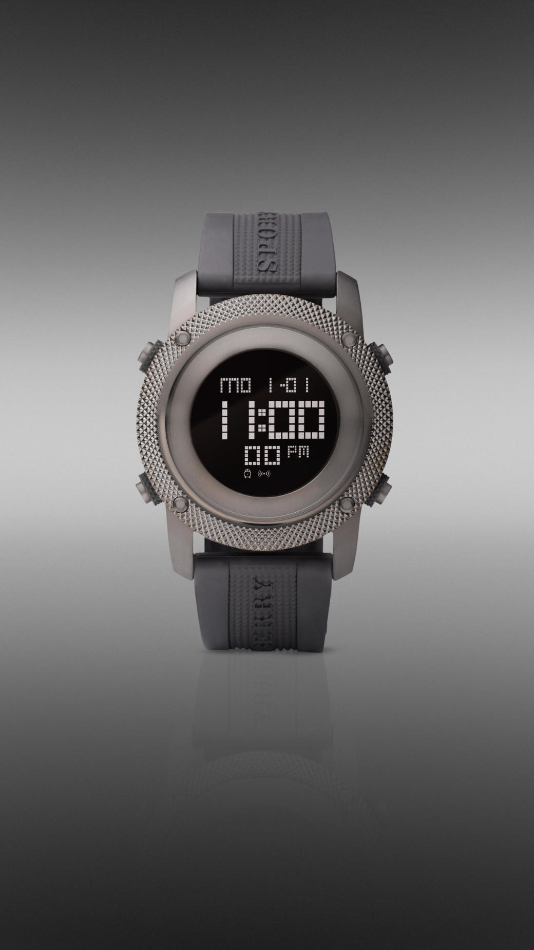 Burberry Digital Rubber Strap Watch | Nordstrom
