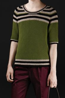 Burberry Prorsum Hand Crochet Cotton Sweater - Lyst