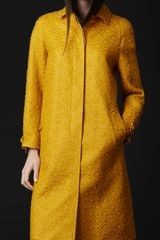 Burberry Prorsum Graphic Matelassé Trench Coat in Yellow (chrome yellow) - Lyst