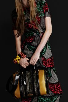 Burberry Prorsum Silk Print Tea Dress - Lyst