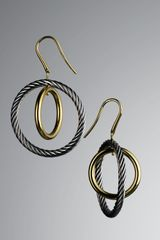 David Yurman Spiral Cable Earrings - Lyst