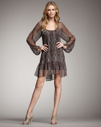 Ella Moss Babylon Shimmery Dress - Lyst