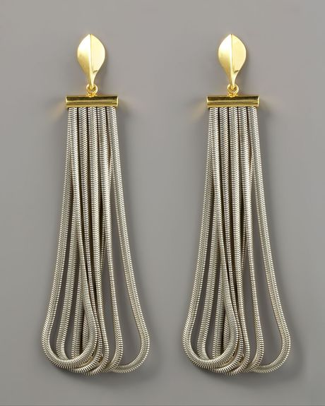 Giles & Brother Petal & Fringe Earrings in Gold (null) - Lyst
