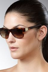 Gucci Small Cat-eye Sunglasses, Havana - Lyst