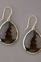Ippolita Medium Teardrop Earrings, Smoky Quartz - Lyst