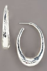 Ippolita Glamazon Oval Hoop Earrings, Small - Lyst