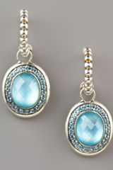 John Hardy Batu Bedeg Topaz Drop Earrings in Blue (blue topaz/ swiss blue topaz) - Lyst
