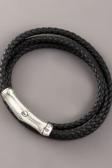 John Hardy Bamboo Wrapped-leather Bracelet, Black - Lyst