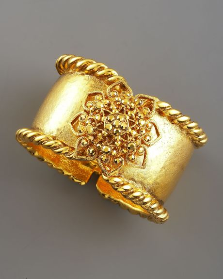 Jose & Maria Barrera Goldplated Filigree Bracelet in Gold - Lyst