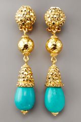 Jose & Maria Barrera Turquoise Drop Earrings - Lyst