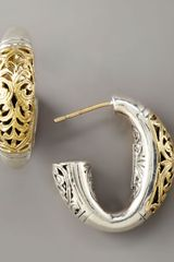 Konstantino Silver & Gold Daphne Hoop Earrings - Lyst
