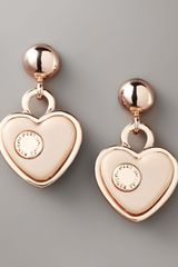 Marc By Marc Jacobs Heart Drop Earrings - Lyst