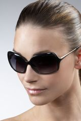 Marc By Marc Jacobs Metal-arm Oversized Sunglasses - Lyst