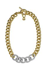 Michael Kors Pave Link-chain Necklace - Lyst