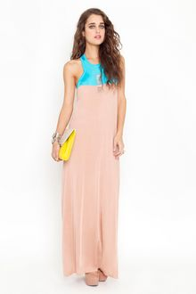 Nasty Gal Two Tone Maxi Dress - Lyst