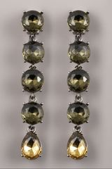 Oscar de la Renta Crystal Drop Clip Earrings - Lyst