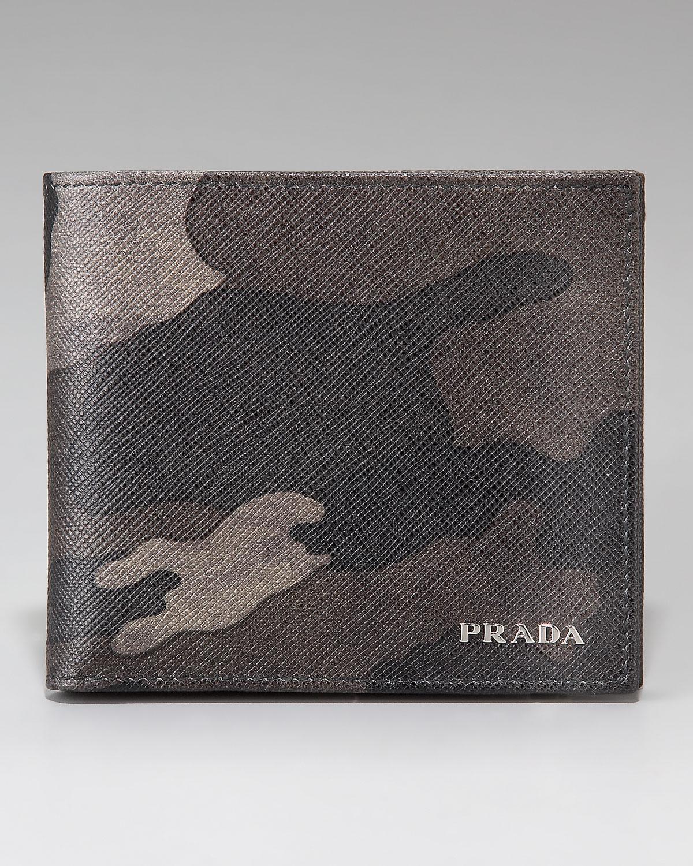 Prada Fumo Camouflage Wallet in Gray for Men (gray camo) | Lyst