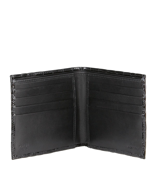 fake prada wallets - Prada Croc-embossed Wallet in Black for Men (nero)   Lyst