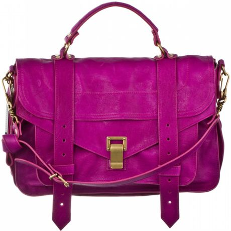 Proenza Schouler Ps1 Medium Leather in Purple (orchid) - Lyst