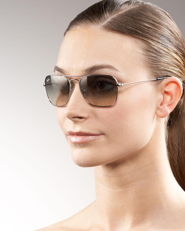 0fcd7e09a7b Lyst - Ray-Ban Caravan Aviator Sunglasses in Metallic