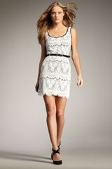 Royal Underground Lace Tank Dress - Lyst