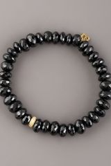 Sydney Evan Black Spinel & Diamond Bracelet - Lyst