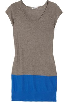 T By Alexander Wang Muscle Color-block Fine-knit Dress - Lyst