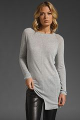 T By Alexander Wang Cotton Loose Rib Knit Tunic - Lyst