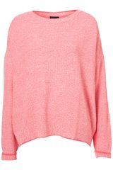 Topshop Knitted Tweedy Sweat - Lyst