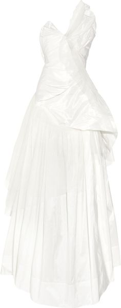 Vivienne Westwood Gold Label Bronze Silktaffeta and Tulle Dress in White (bronze) - Lyst