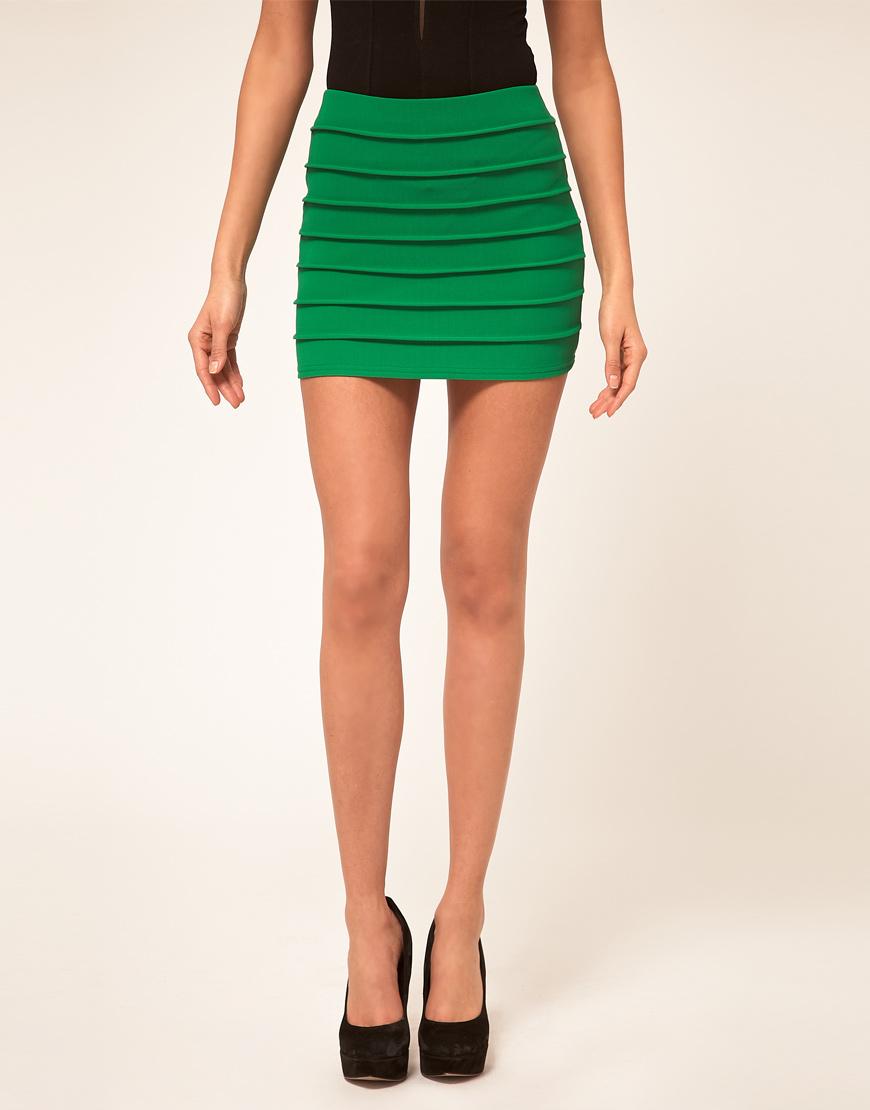 Горизонтальные складки на юбки