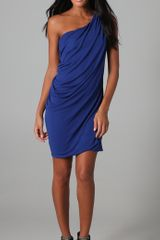 Cut25 One Shoulder Draped Dress - Lyst