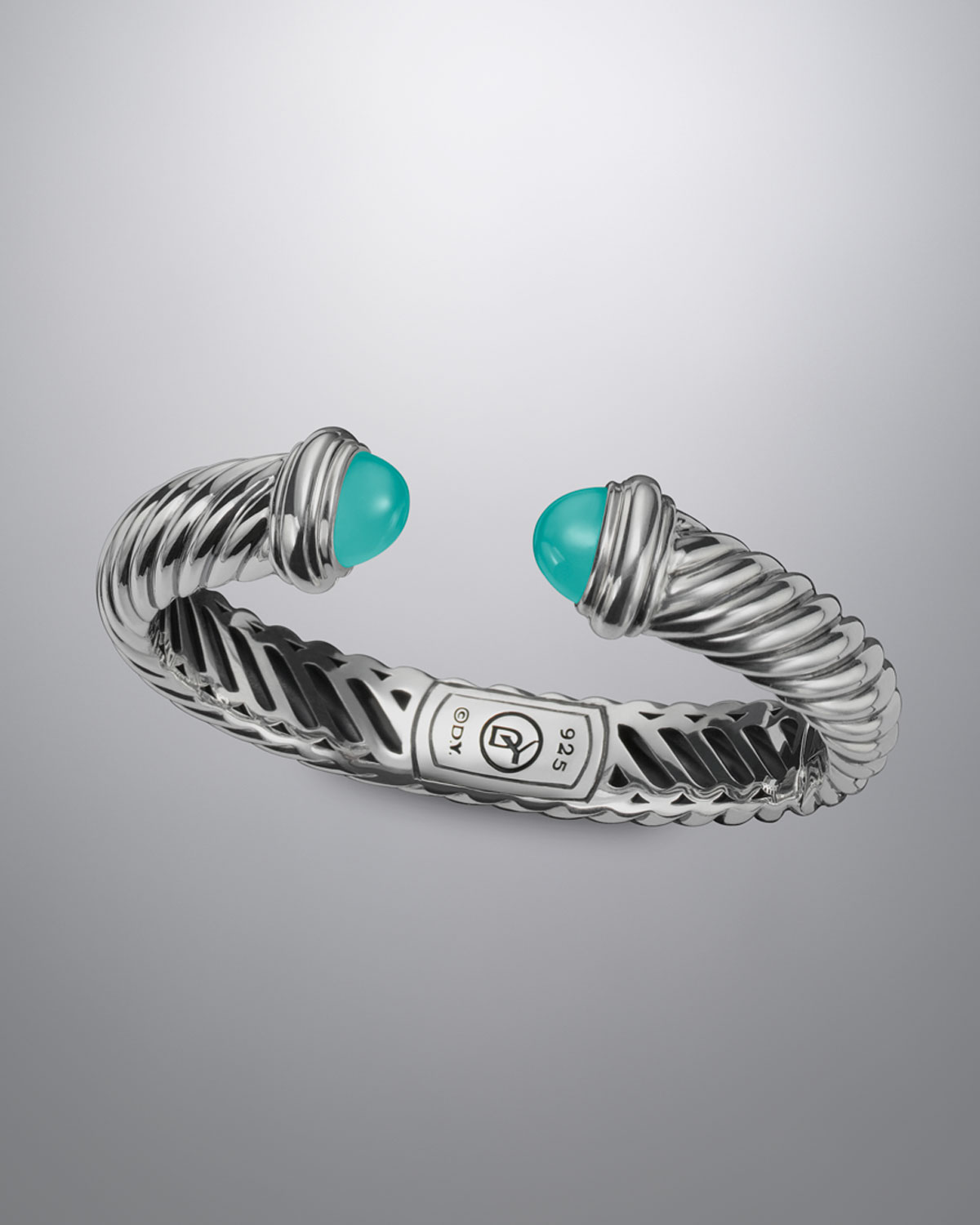David yurman 10x5mm aqua chalcedony waverly bracelet in for David yurman like bracelets
