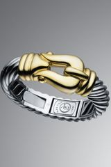 David Yurman Large Cable Buckle Bracelet - Lyst